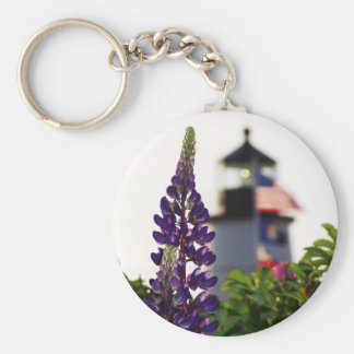 Pemaquid Lupin In the Distance Basic Round Button Key Ring