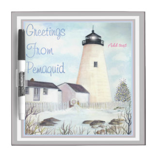 PEMAQUID POINT LIGHT MAINE BY BONHOVEY Dry-Erase BOARD