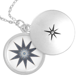 Pemaquid Point Light Star Locket Necklace