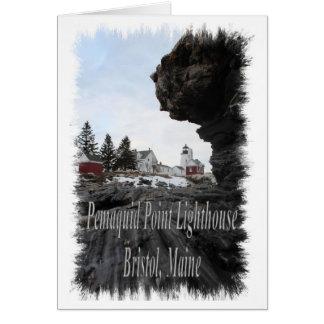 Pemaquid Point Lighthouse in Bristol, Maine Card
