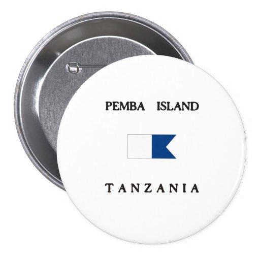 Pemba Island Tanzania Alpha Dive Flag Button