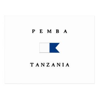Pemba Tanzania Alpha Dive Flag Post Card