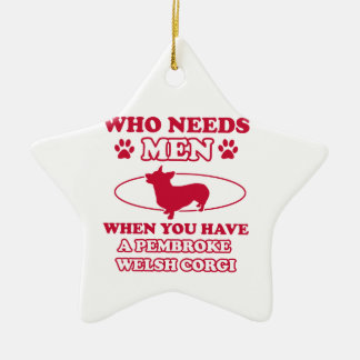 Pembdroke welsh corgi mommy design ceramic ornament