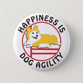 Pembroke Corgi Agility Happiness 6 Cm Round Badge