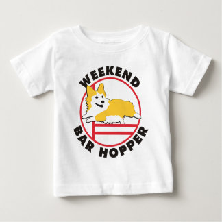Pembroke Corgi Agility Weekend Bar Hopper Baby T-Shirt