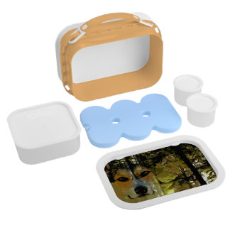 Pembroke Corgi in the Woods Lunch Box