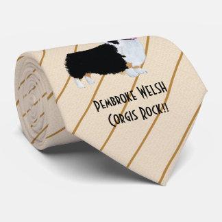 Pembroke Corgis Rock!!  printed both side Tie