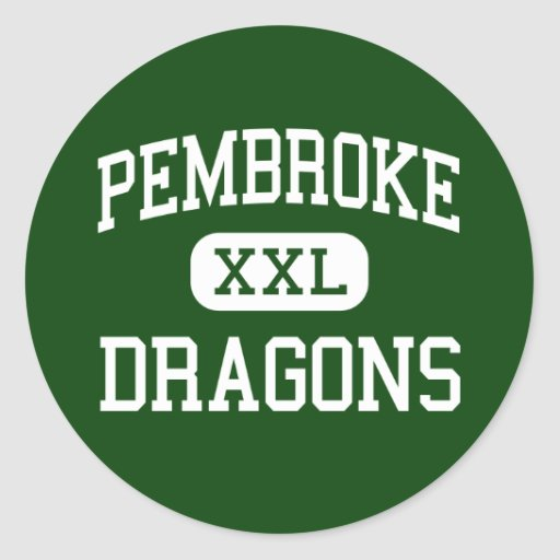 Pembroke - Dragons - High School - Corfu New York Round Sticker