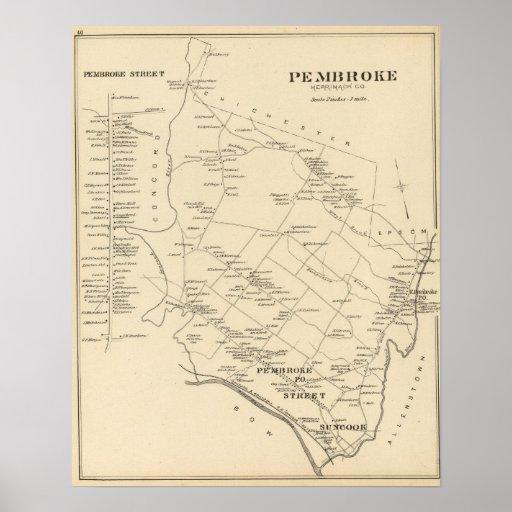 Pembroke, Merrimack Co Print