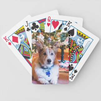 Pembroke Welsh Corgi Christmas Bicycle Playing Cards