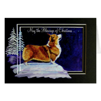 Pembroke Welsh Corgi Christmas Card