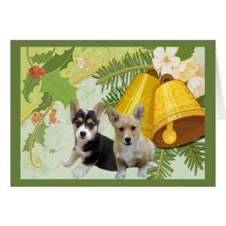 Pembroke Welsh Corgi Christmas Card Bells