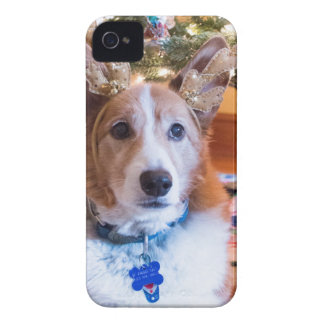 Pembroke Welsh Corgi Christmas iPhone 4 Case
