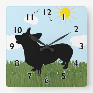 Pembroke Welsh Corgi Clock