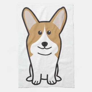 Pembroke Welsh Corgi Dog Cartoon Tea Towel