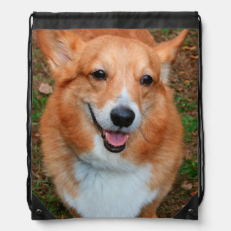 PEMBROKE WELSH CORGI DRAWSTRING BACKPACK
