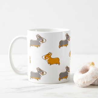 pembroke welsh corgi hand drawing handle coffee mug