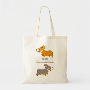 4c095840e786 pembroke welsh corgi hand drawing tote bag