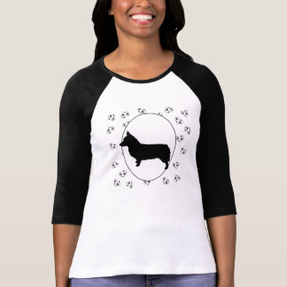Pembroke Welsh Corgi Hearts and Pawprints T-Shirt