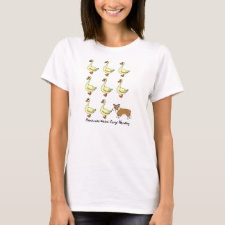 Pembroke Welsh Corgi Herding Ducks TeeShirt T-Shirt