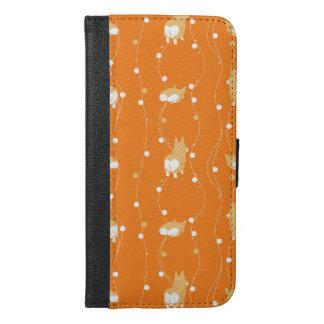 pembroke welsh corgi line and circular handle iPhone 6/6s plus wallet case
