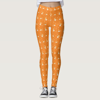 pembroke welsh corgi line and circular handle leggings