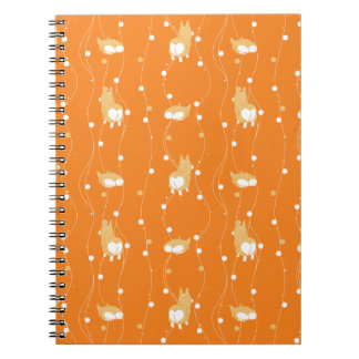 pembroke welsh corgi line and circular handle notebook