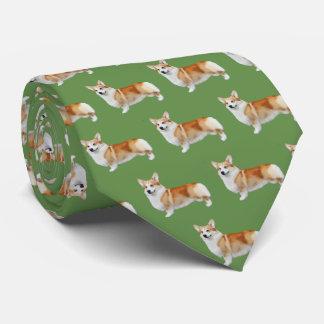 Pembroke Welsh Corgi Neck Tie - Green