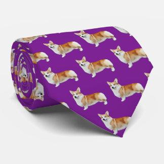 Pembroke Welsh Corgi Neck Tie - Purple