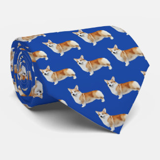 Pembroke Welsh Corgi Neck Tie - Royal Blue