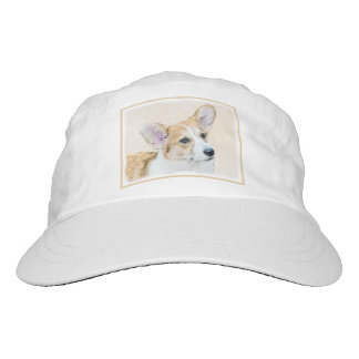 Pembroke Welsh Corgi Painting - Original Dog Art Hat