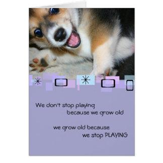 Pembroke Welsh Corgi Puppy Birthday Greeting Card