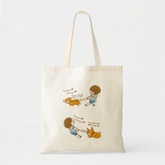pembroke welsh corgi quickly quick! tote bag