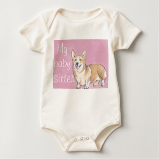 Pembroke Welsh Corgi red art jumper 24 months Baby Bodysuit