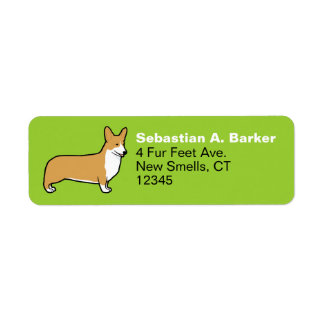 Pembroke Welsh Corgi Return Address Label