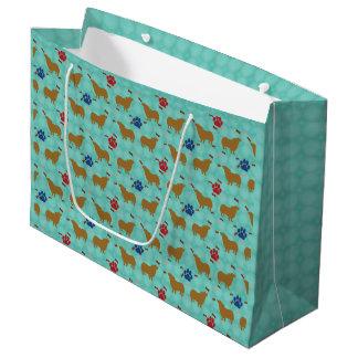 Pembroke Welsh Corgi Shadow Large Gift Bag