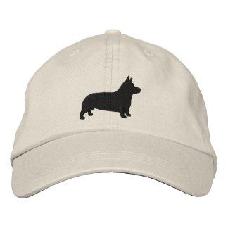 Pembroke Welsh Corgi Silhouette Embroidered Hat