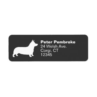 Pembroke Welsh Corgi Silhouette Return Address Label