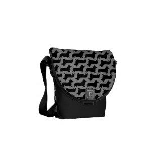 Pembroke Welsh Corgi Silhouettes Pattern Courier Bag