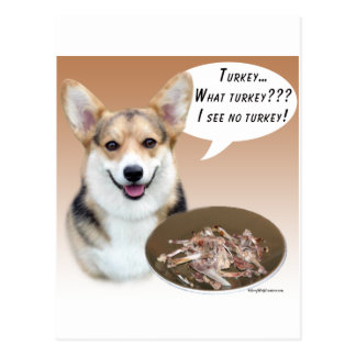 Pembroke Welsh Corgi Turkey Postcard