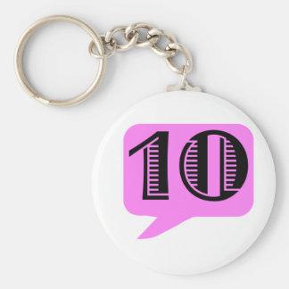 PEN10 BASIC ROUND BUTTON KEY RING