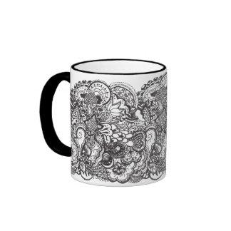 Pen and Ink Drawing Mug