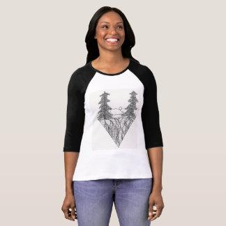 Pen and ink landscape T-Shirt