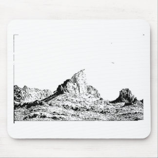 Pen and Ink Pointed Butte Mouse Pad