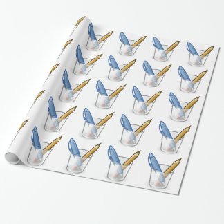 Pen And Pencil Wrapping Paper