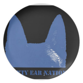 PEN Blue on black Plate