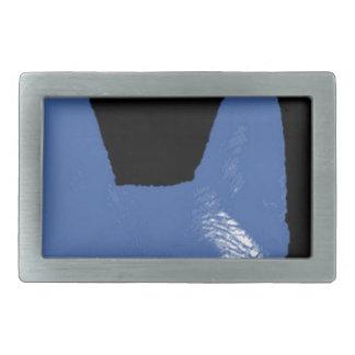 PEN Blue on black Rectangular Belt Buckle