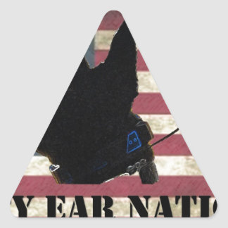 PEN Flag Triangle Sticker