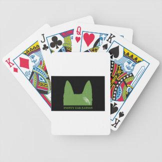 PEN Green on black Poker Deck