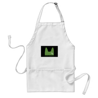 PEN Green on black Standard Apron